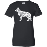German Shepherd Ladies Tee - STUDIO 11 COUTURE