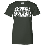 Nurse By Day Dog Lover By Night Ladies Tee - STUDIO 11 COUTURE