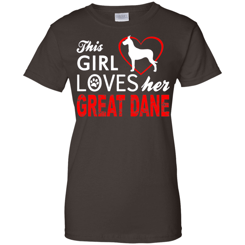 This Girl Love Her Great Dane Ladies Tee - STUDIO 11 COUTURE