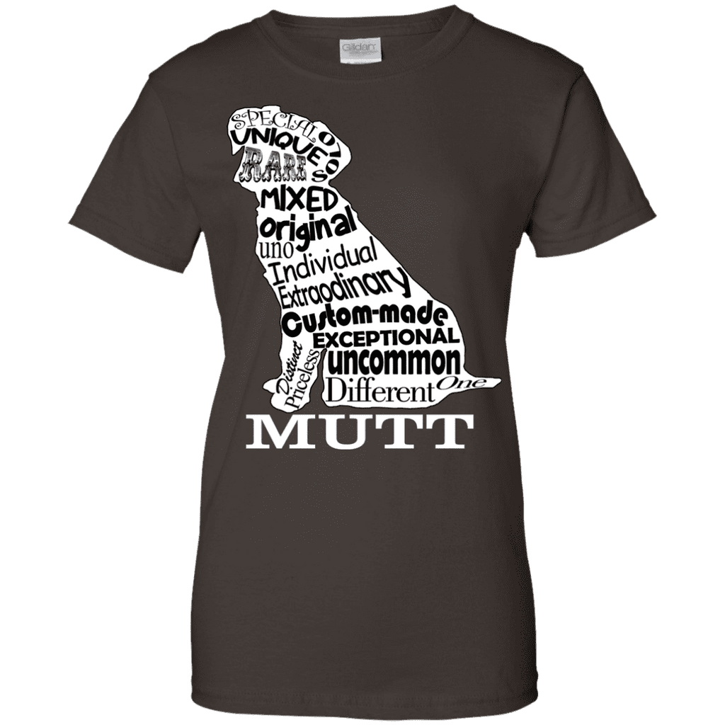 Mutt White Ladies Tee - STUDIO 11 COUTURE