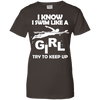 Image of I Know I Swim Like A Girl Ladies Tee - STUDIO 11 COUTURE