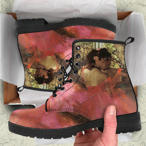 Edgar Degas Ballerina Womens Leather Boots