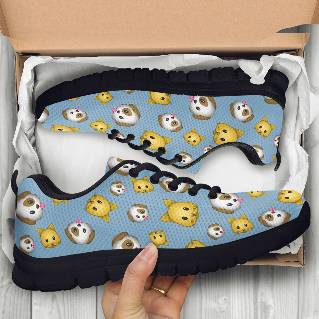 Emoji Cats And Dogs Kids Sneakers