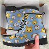 Image of Emoji Cats And Dogs Womens Leather Boots