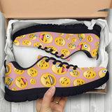 Emoji Happy Womens Athletic Sneakers