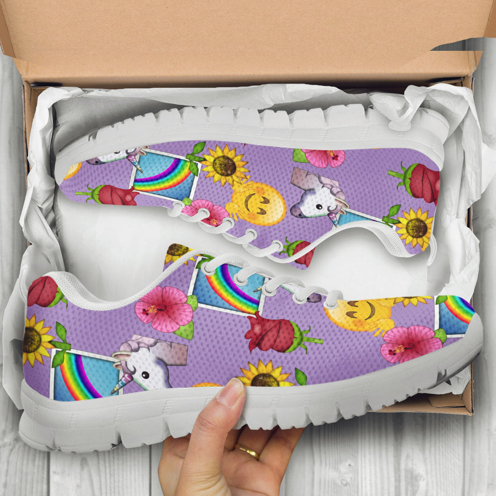 Emoji Happy Place Womens Athletic Sneakers