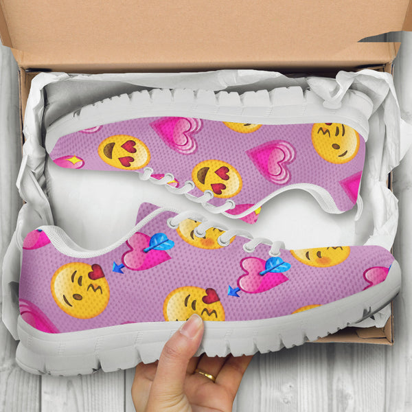 Emoji Love Womens Athletic Sneakers