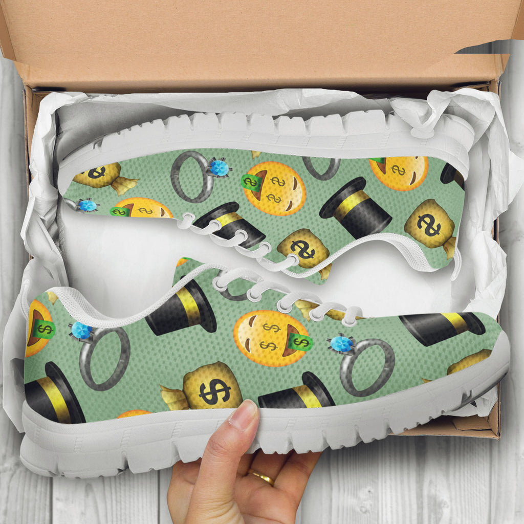 Emoji Money Womens Athletic Sneakers