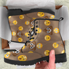 Image of Emoji Poop Womens Leather Boots