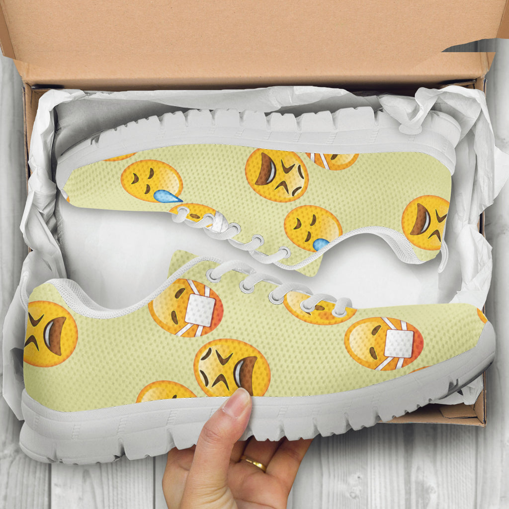Emoji Sick Womens Athletic Sneakers