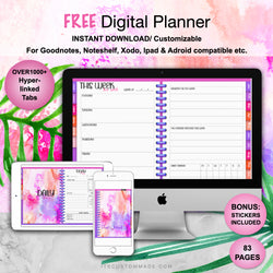 GIVEAWAY: Undated Digital Planner II / GoodNotes, Xodo, Digital Journal, iPad Planner, tablet Planner Digital Planner Stickers