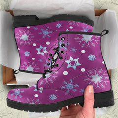 Frozen Snowing Womens Leather Boots