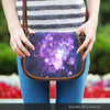 Image of Galaxy Crossbody Shoulder Canvas Leather Saddle Bag
