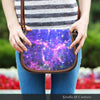 Image of Galaxy 3 Crossbody Shoulder Canvas Leather Saddle Bag - STUDIO 11 COUTURE