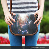 Galaxy 7 Crossbody Shoulder Canvas Leather Saddle Bag - STUDIO 11 COUTURE