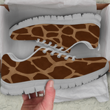 Giraffe Skin Womens Athletic Sneakers - STUDIO 11 COUTURE