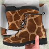 Image of Giraffe Skin Womens Leather Boots