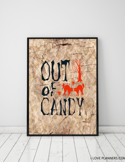 FREE Poster, Print It Yourself, DIY, Instant Download: Budget Halloween Decoration