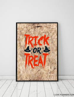 FREE Poster, Print It Yourself, DIY, Instant Download, Printable: Budget Halloween Decoration 5