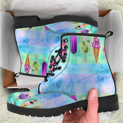 Ice Cream Womens Leather Boots
