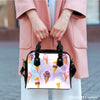 Image of Ice Cream #1 Dessert Kawaii Lolita Theme Women Fashion Shoulder Handbag Black Vegan Faux Leather