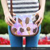 Image of Ice Cream 9 Crossbody Shoulder Canvas Leather Saddle Bag