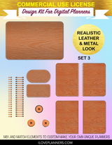 Wood Grain Textures Cover Kit for Digital Planners, Spirals, Coils, Customize Your Digital Planners, Commercial Use OK, Digital Planners, Digital Journals, Compatible for PC, Mac, Canva.  #102