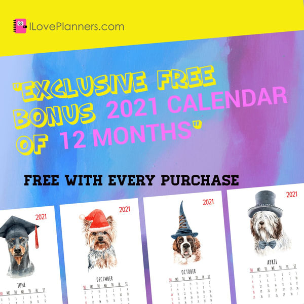2021 DOGGIES CALENDAR - FREE WITH EVERY PURCHASE.  EXCLUSIVE FOR OUR AWESOME CUSTOMERS