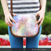 Image of Galaxy Pastel 6 Crossbody Shoulder Canvas Leather Saddle Bag