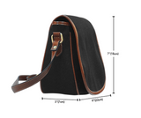 Alice Key Shrink 2 Crossbody Shoulder Canvas Leather Saddle Bag