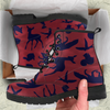 Image of Woodland Creatures Red Womens Leather Boots - STUDIO 11 COUTURE