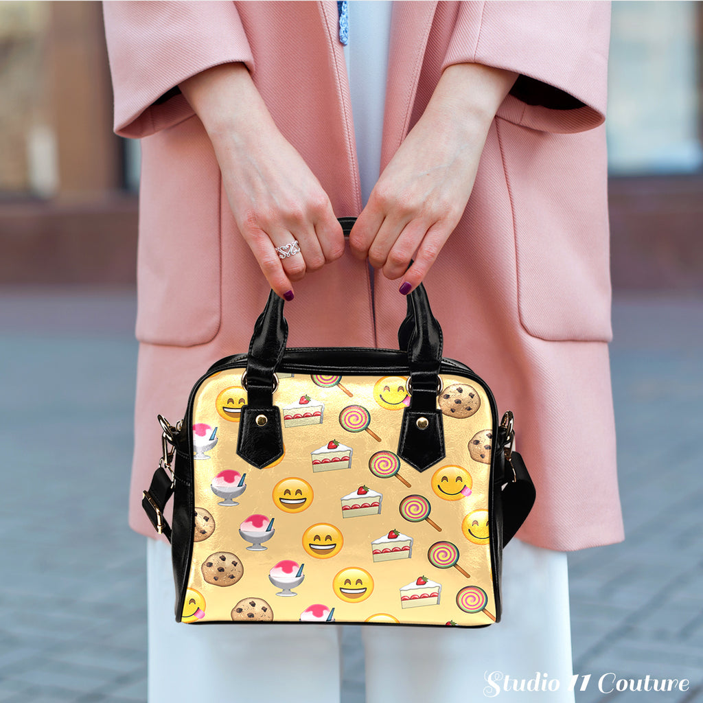 Fun Emojis Sweets Shoulder Handbag