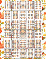 Fall Digital Printable Labels, Collage Sheets, Crafts, Pantry Labels, Kitchen Labels, Scrapbooking Labels Planner and Journal, Digital Journal, Digital Planner Stickers
