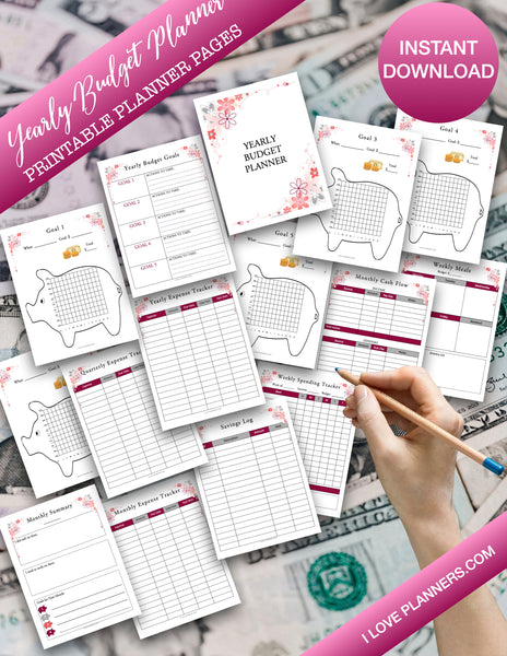 Finance Planner, Printable Financial Journal, Budget Planner Printable, Budget Planner Kit, Budget Binder, Budgeting Planner, Money Planning, Printable Planner