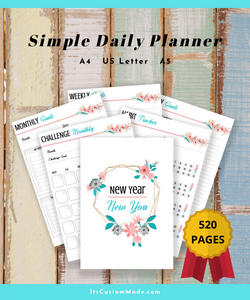 PLANNER New Year New You Yearly, Monthly, Weekly Goals and Multifunctional Journal