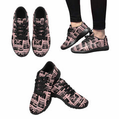 Model020 Women's Sneaker 80s Boombox Light Pink and Black - STUDIO 11 COUTURE