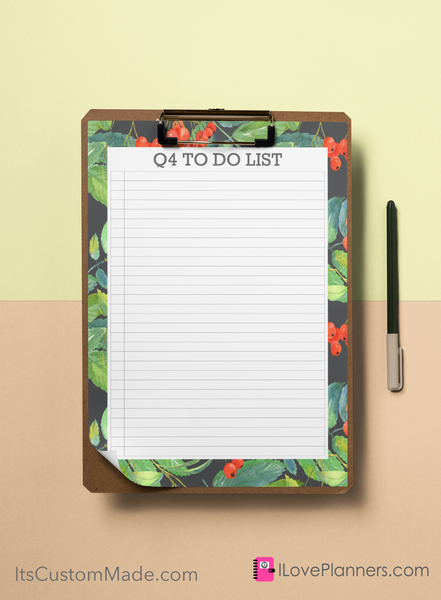 FREE Q4 To Do Checklists, Digital Printable, Stationary, Scrapbooking