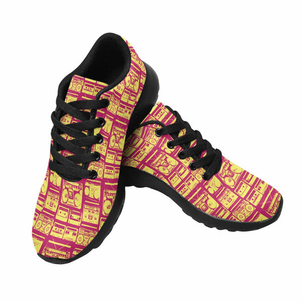 Model020 Women's Sneaker 80s Boombox Hot Pink and Yellow - STUDIO 11 COUTURE