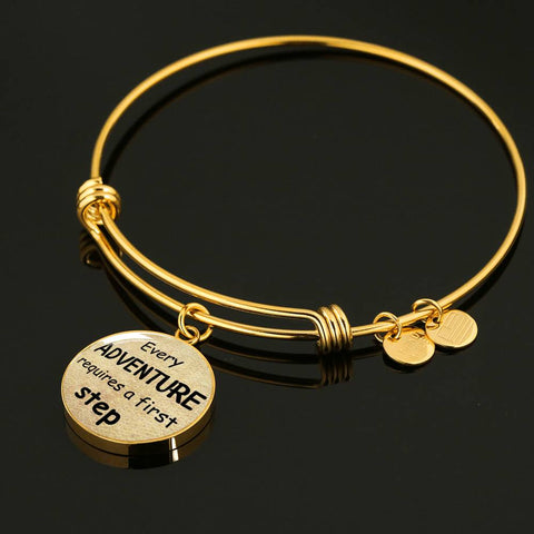 Alice In Wonderland Quote 7 PERSONALIZED Custom Design Silver or Gold Plated Bracelet Bangle, Custom Laser Engraved Jewelry, Circle Round Pendant, Pendant Bracelet, Gift for Her, Gift For Mom