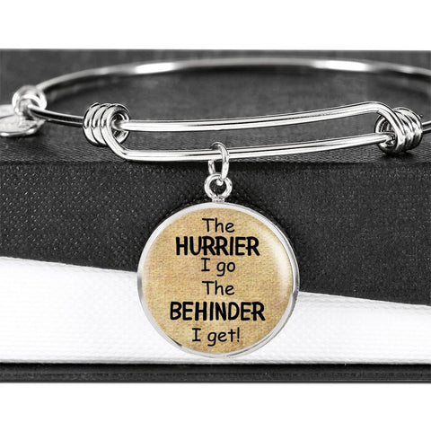 Alice In Wonderland Quote 10 PERSONALIZED Custom Design Silver or Gold Plated Bracelet Bangle, Custom Laser Engraved Jewelry, Circle Round Pendant, Pendant Bracelet, Gift for Her, Gift For Mom
