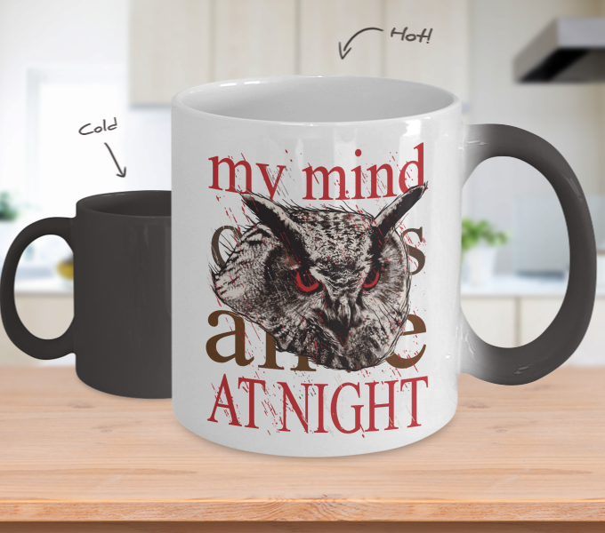 Color Changing Mug Animals My Mind Comes Alive At Night