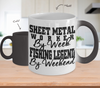 Image of Color Changing Mug Hunting Theme Sheet Metal Worker By Week Fishing Legend By Legend
