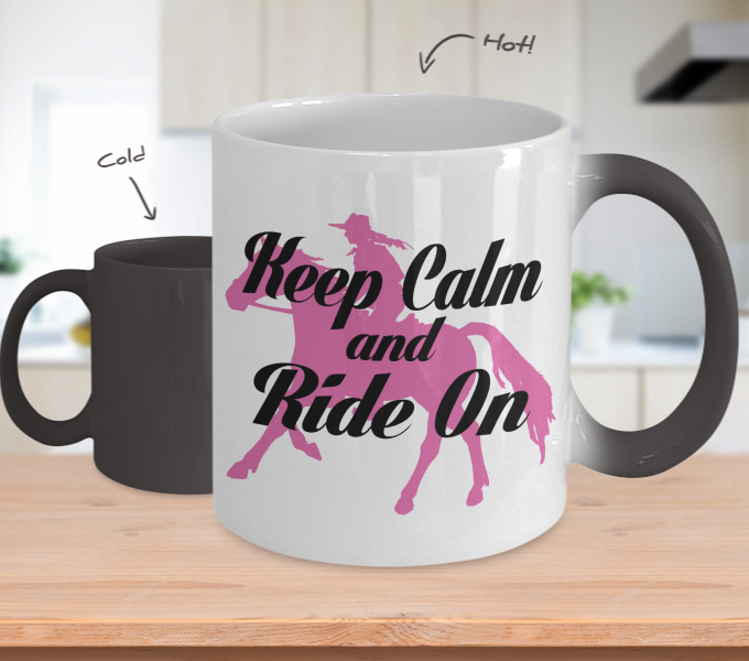 Color Changing Mug Adventure Theme Keep Calm And Ride On