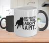 Image of Color Changing Mug Dog Theme Don't Believe The Bull. Adopt A Pit