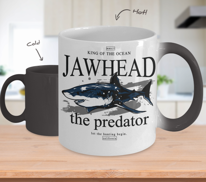 Color Changing Mug Animals King Of The Ocean Jaw Head The Predator