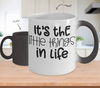 Image of Color Changing Mug Funny Mug Inspirational Quotes Novelty Gifts It's The Little Things In Life