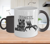 Image of Color Changing Mug Hobbies Theme Falconry I Play With Sharp Objects