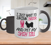 Image of Color Changing Mug Dog Theme I Just Want To Drink Beer And Pet My Shih Tzu