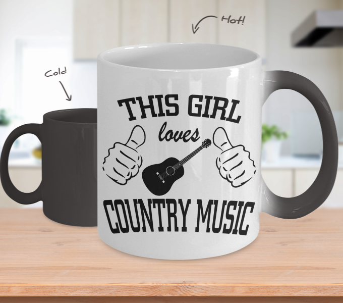 Color Changing Mug Random Theme This Girl Loves Country Music