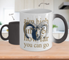 Image of Color Changing Mug Animals Aim High And See How Far You Can Go